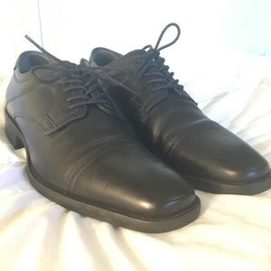 JOHNSTON MURPHY LARSEY Mens Size 9 M Black Leather